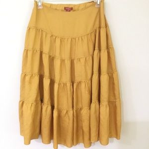 SUNDANCE 100% silk fully lined ruffled skirt sz 14